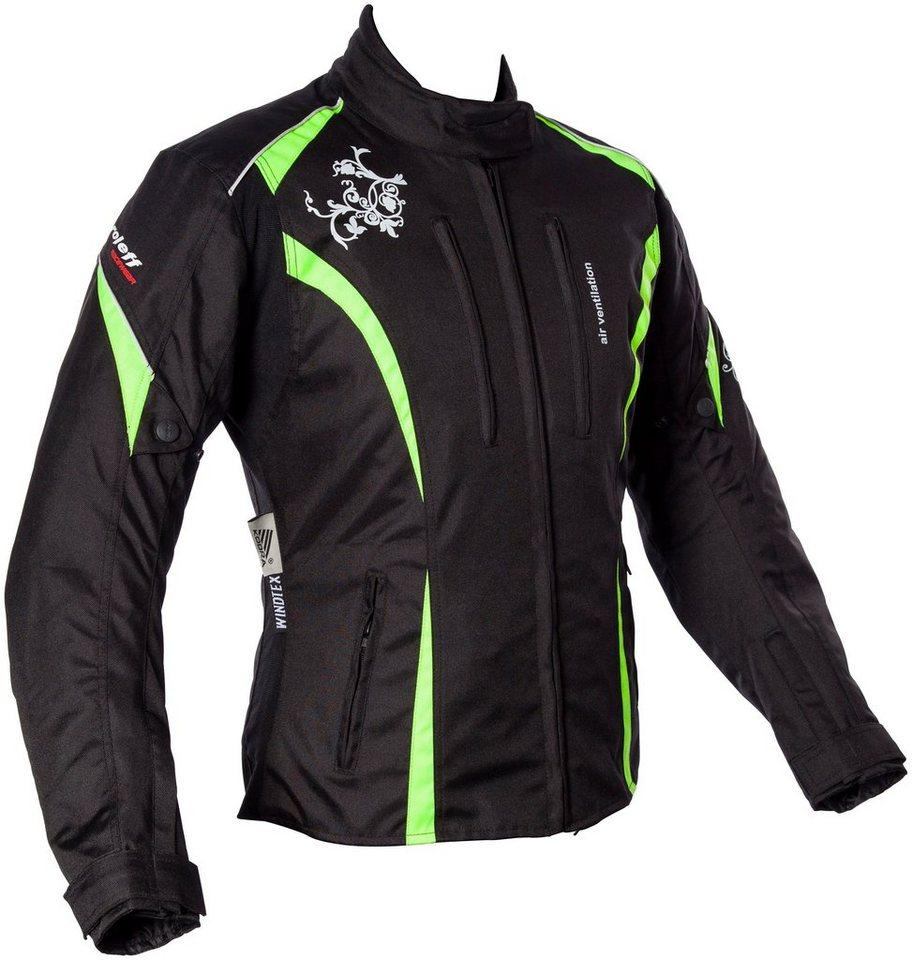Roleff Damenmotorradjacke »Latina Lady« in gelb/schwarz