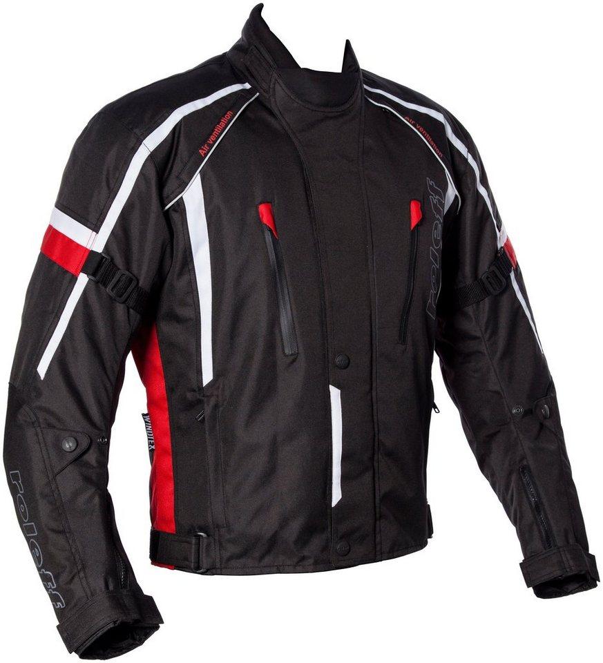 Roleff Motorradjacke »Ancona« in schwarz/rot