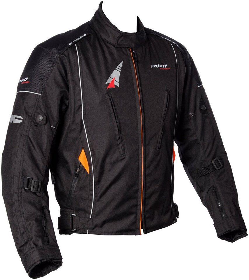 Motorradjacke »Como« in schwarz/orange