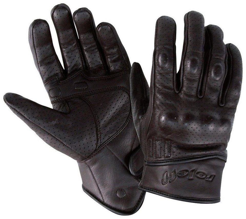 Motorradhandschuhe »RO 71« in schwarz