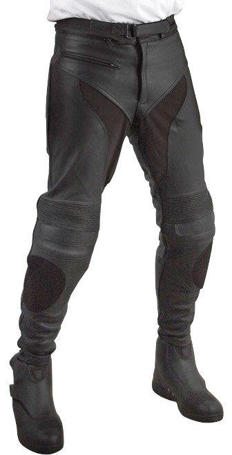 Motorradhose »RO 28, Leder, Größe 36 bis 46« in schwarz