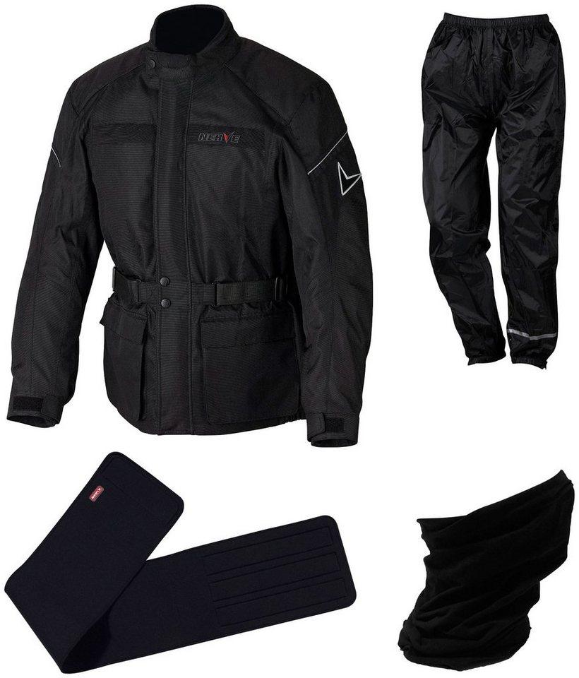 Motorrad-Komplett-Set »NERVE Smart Set (4-teilig)« in schwarz