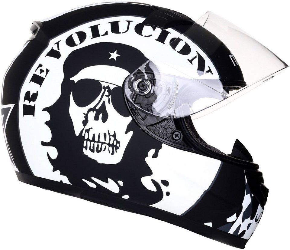 Integralhelm »Frankfurt Revolucion« in schwarz/weiß