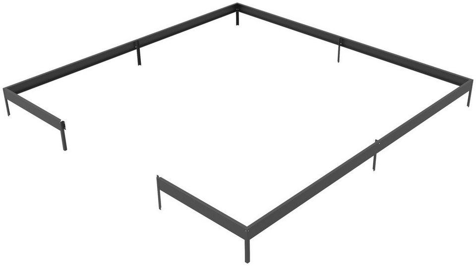 Fundamentrahmen »Oase«, BxL: 368x368 cm, schwarz in schwarz