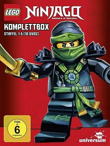 DVD »Lego Ninjago Komplettbox - Staffel 1-5 (10 Discs)«
