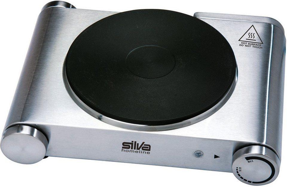 Silva homeline Edelstahl-Einzelkochplatte EKS 3121 in Edelstahl