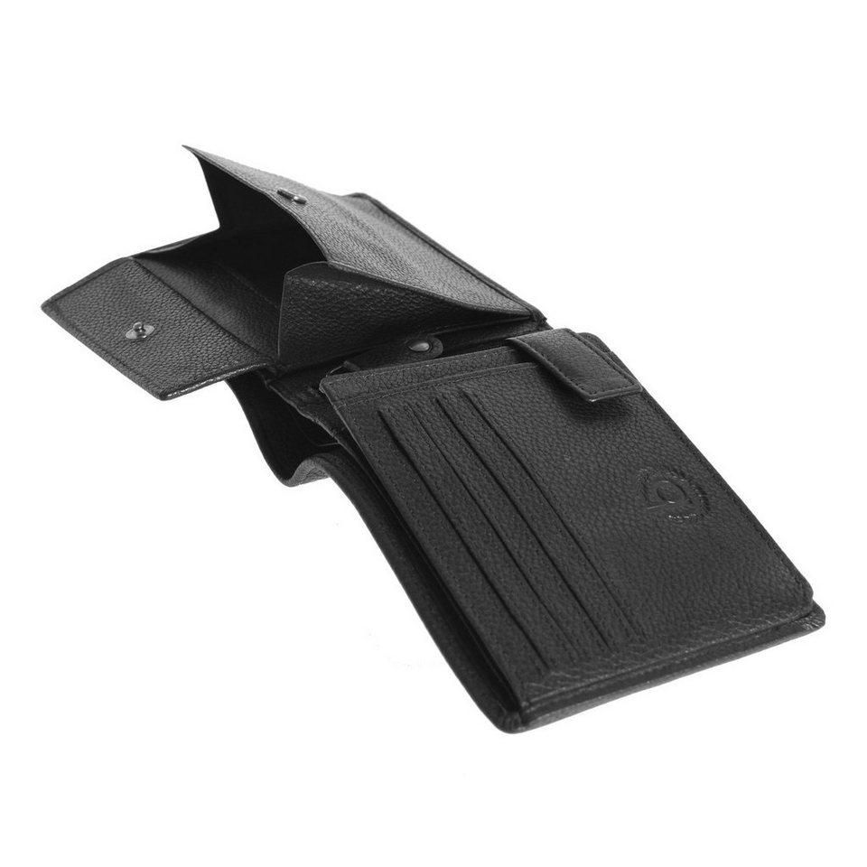 Bugatti Querformat Herren Geldbörse Leder 12,5 cm in schwarz