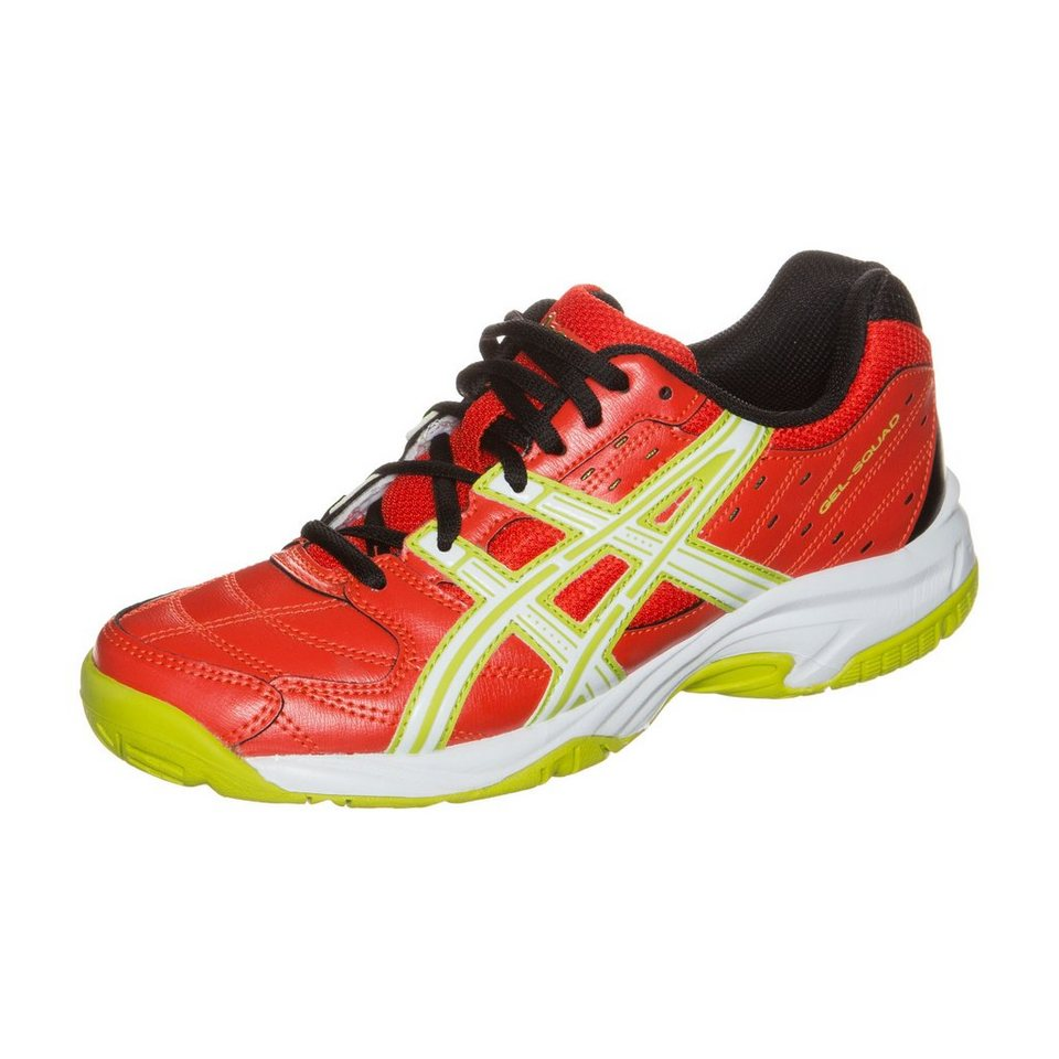ASICS Gel-Squad Trainingsschuh Kinder in rot / weiß / lime
