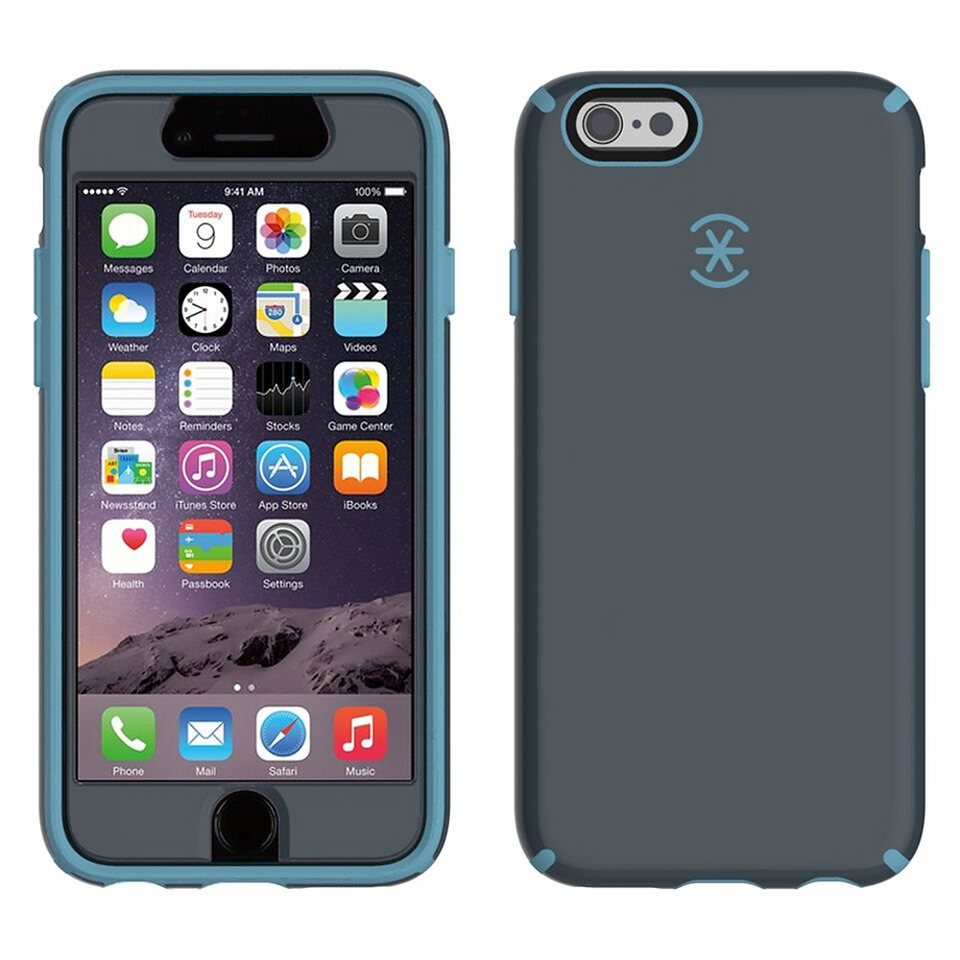 """Speck HardCase »CandyShell FacePlate iPhone (6) 4.7"""" Charcoal Grey« in blau"""