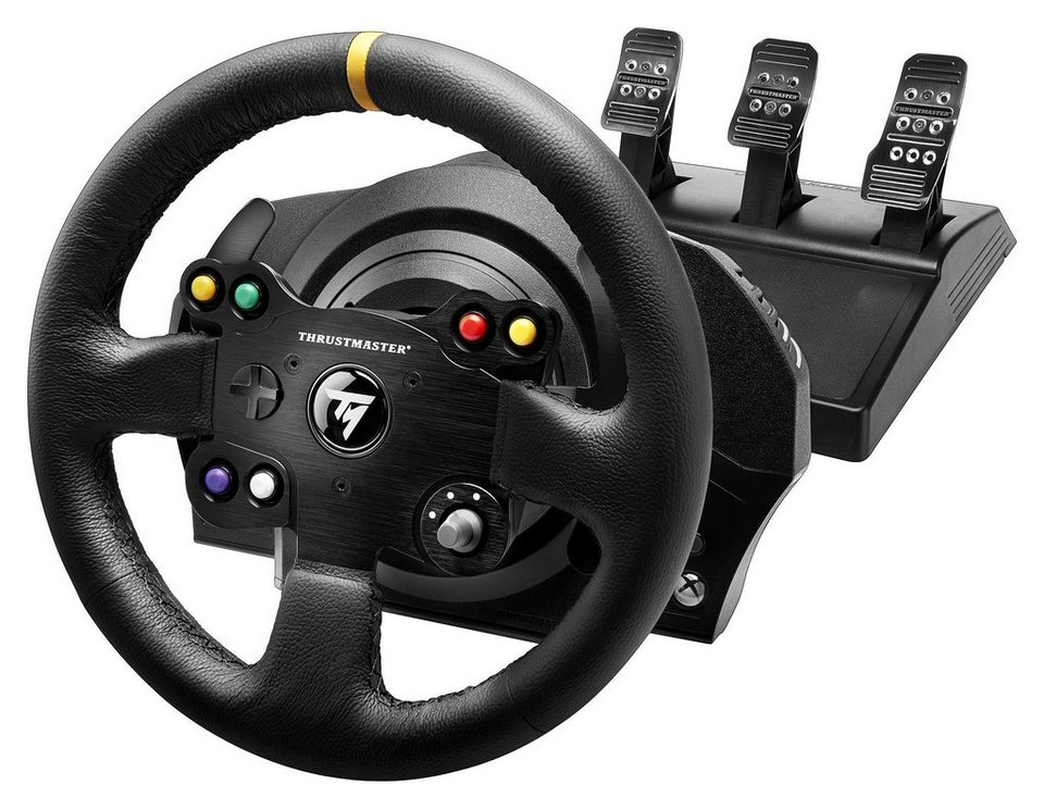 thrustmaster tx racing wheel leather edition xbox one pc. Black Bedroom Furniture Sets. Home Design Ideas