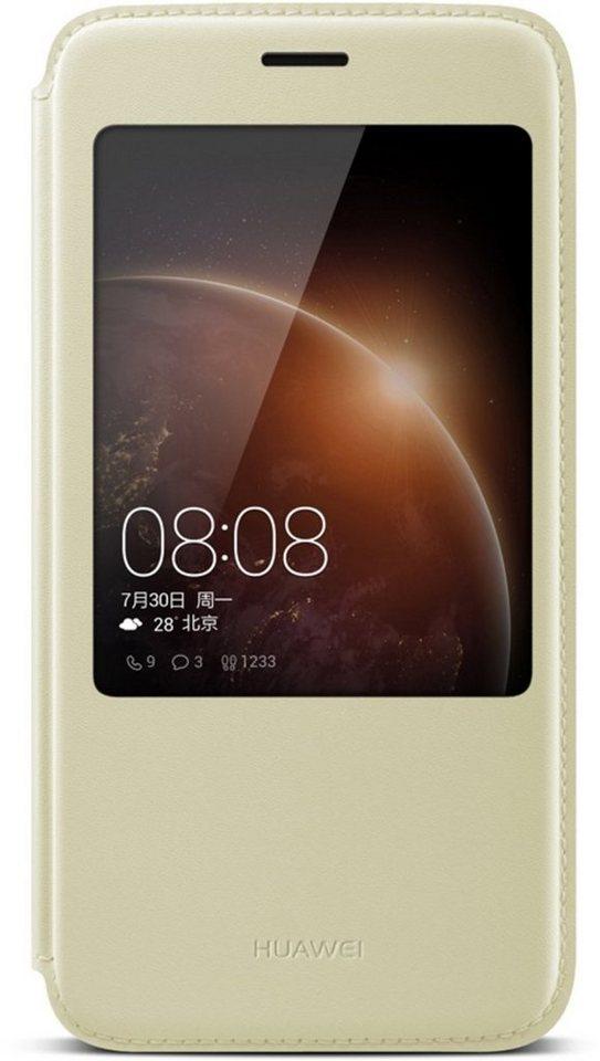 Huawei Handytasche »View Flip Cover für G8« in Gold