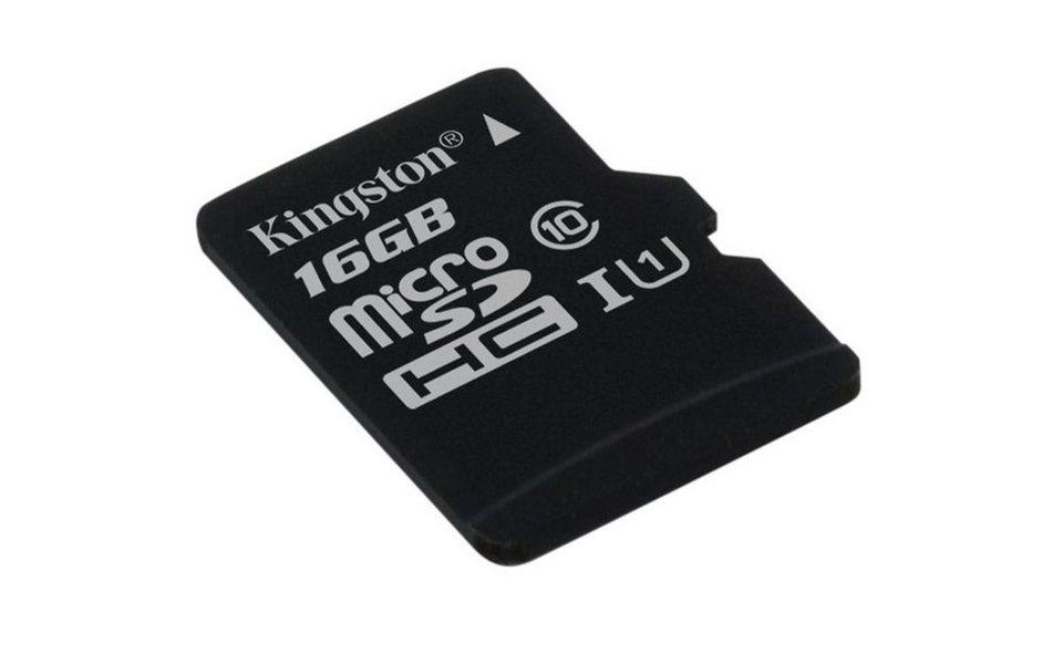 Kingston Speicherkarte »microSDHC Card Class 10 UHS-1 ohne Adapter, 16GB« in Schwarz