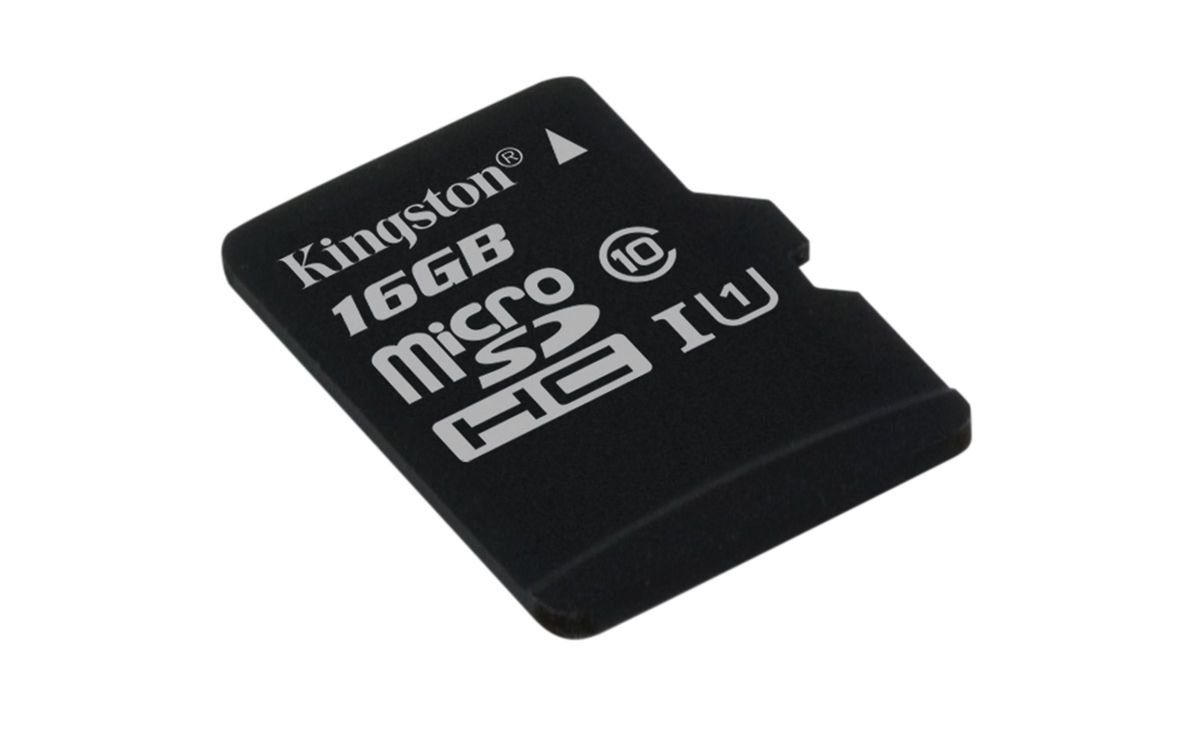 Kingston Speicherkarte »microSDHC Card Class 10 UHS-1 ohne Adapter, 16GB«