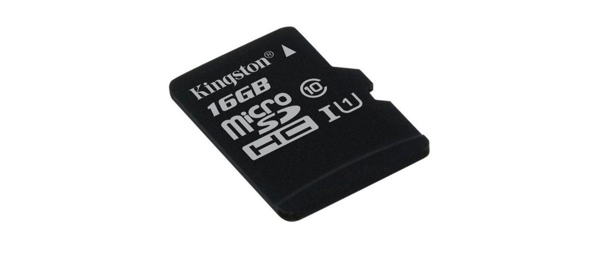 Kingston Speicherkarte »microSDHC Card Class 10 UHS-1 ohne Adapter, 16GB«