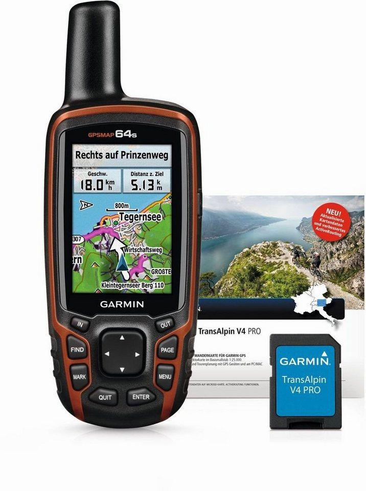 Garmin Navigationsgerät »GPSMAP 64s inkl. TransAlpin V4 Pro (microSD)« in Schwarz-Grau