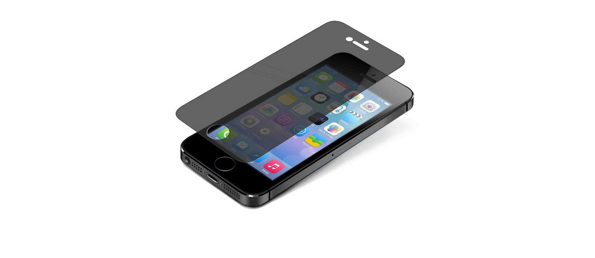 invisibleSHIELD Folie »Glass Privacy Schutz f. Apple iPhone 5/ 5S/ 5C«