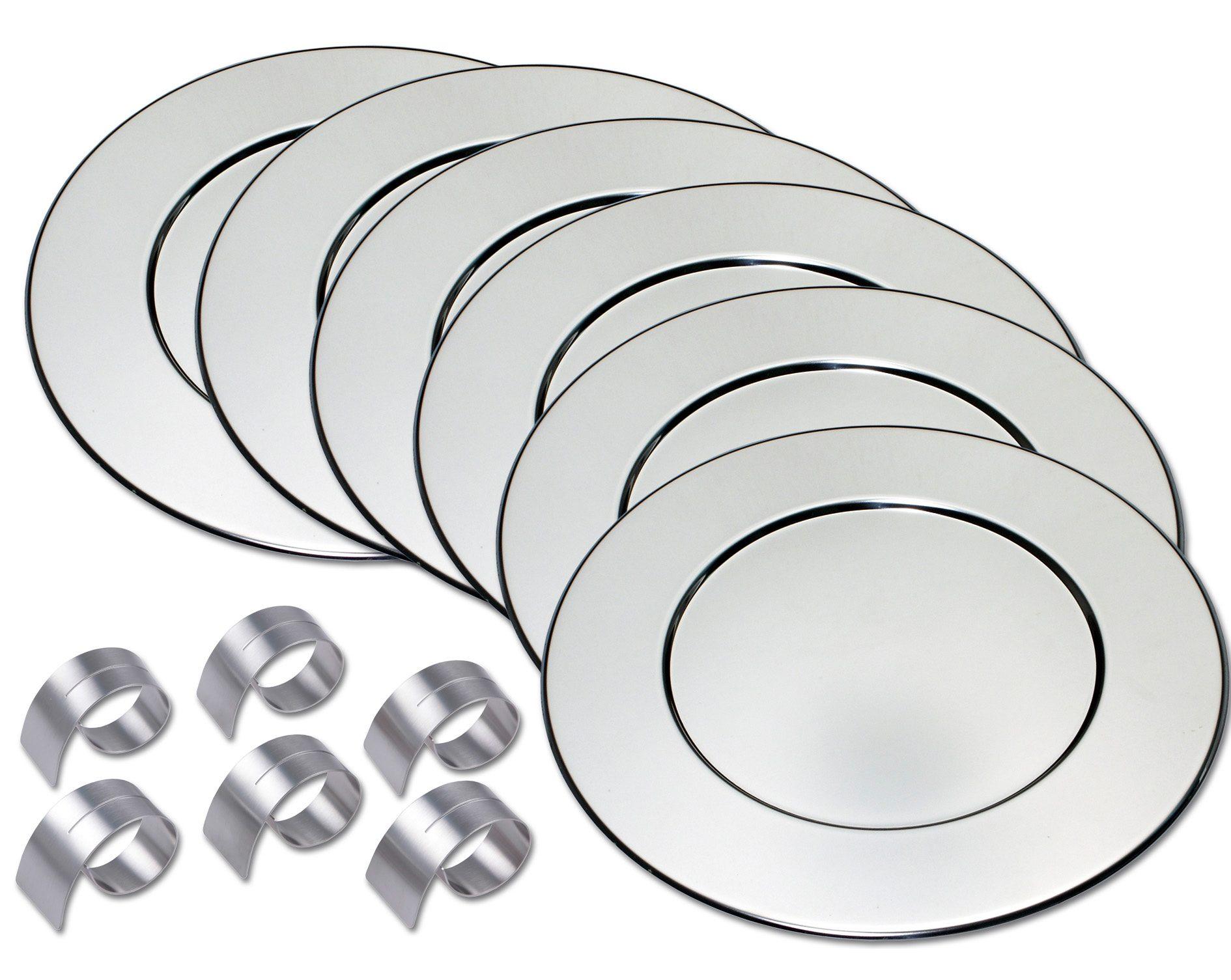 CHG Platzteller-Set incl. 6 Serviettenringe