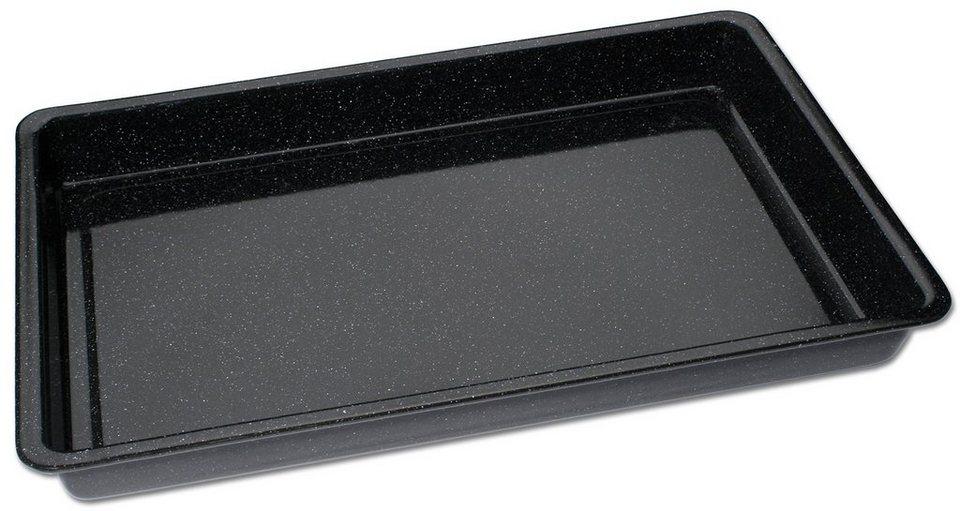 CHG Backblech, »Emaille« in schwarz gesprenkelt