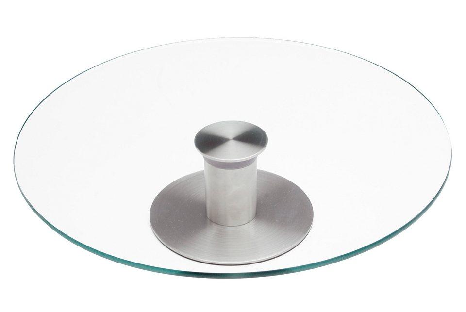 Chg Tortenplatte Edelstahl Glas Drehbar 30 Cm Otto