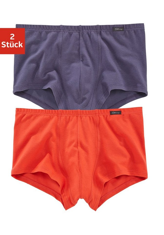 Skiny Retro Pants (2 Stück) »Advantage Men« in rot+marine