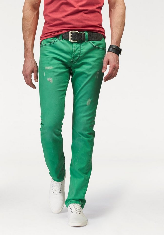 Bruno Banani Slim-fit-Jeans »Mitch« in green-washed