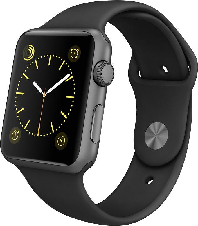 Apple Watch Sport 42mm mit Aluminiumgehäuse in Schwarz
