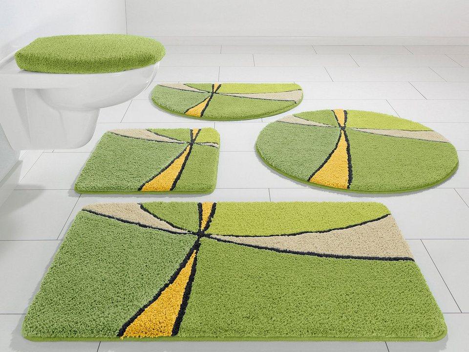 Badematte, my home Selection, »Anthea«, Höhe 15 mm, Microfaser, rutschhemmender Rücken in grün