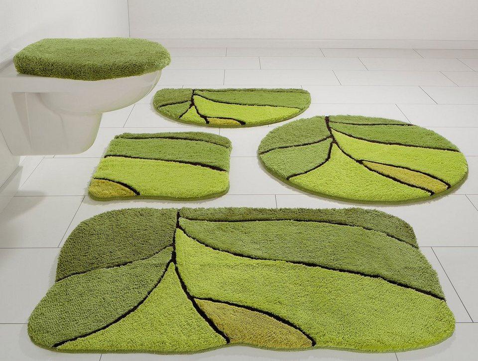 Badematte, my home, »Calamba«, Höhe 20 mm, rutschhemmender Rücken in grün