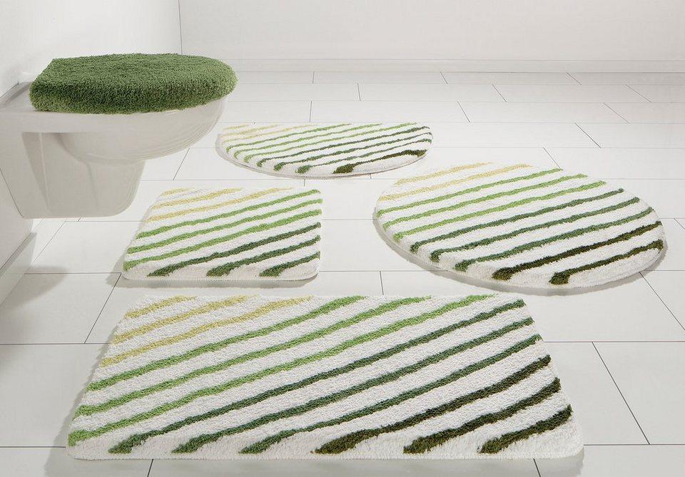 Badematte, my home, »Rantum«, Höhe 20 mm, Microfaser, rutschhemmender Rücken in grün