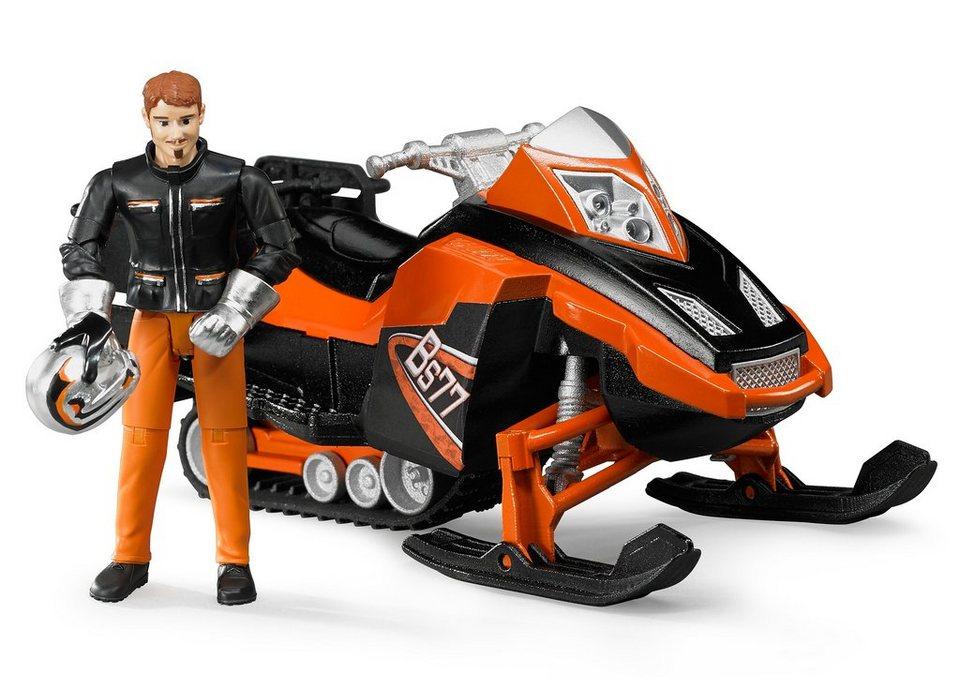 bruder® Spielfigur-Set 2-tlg., »bworld Snowmobil mit Fahrer und Ausstattung«