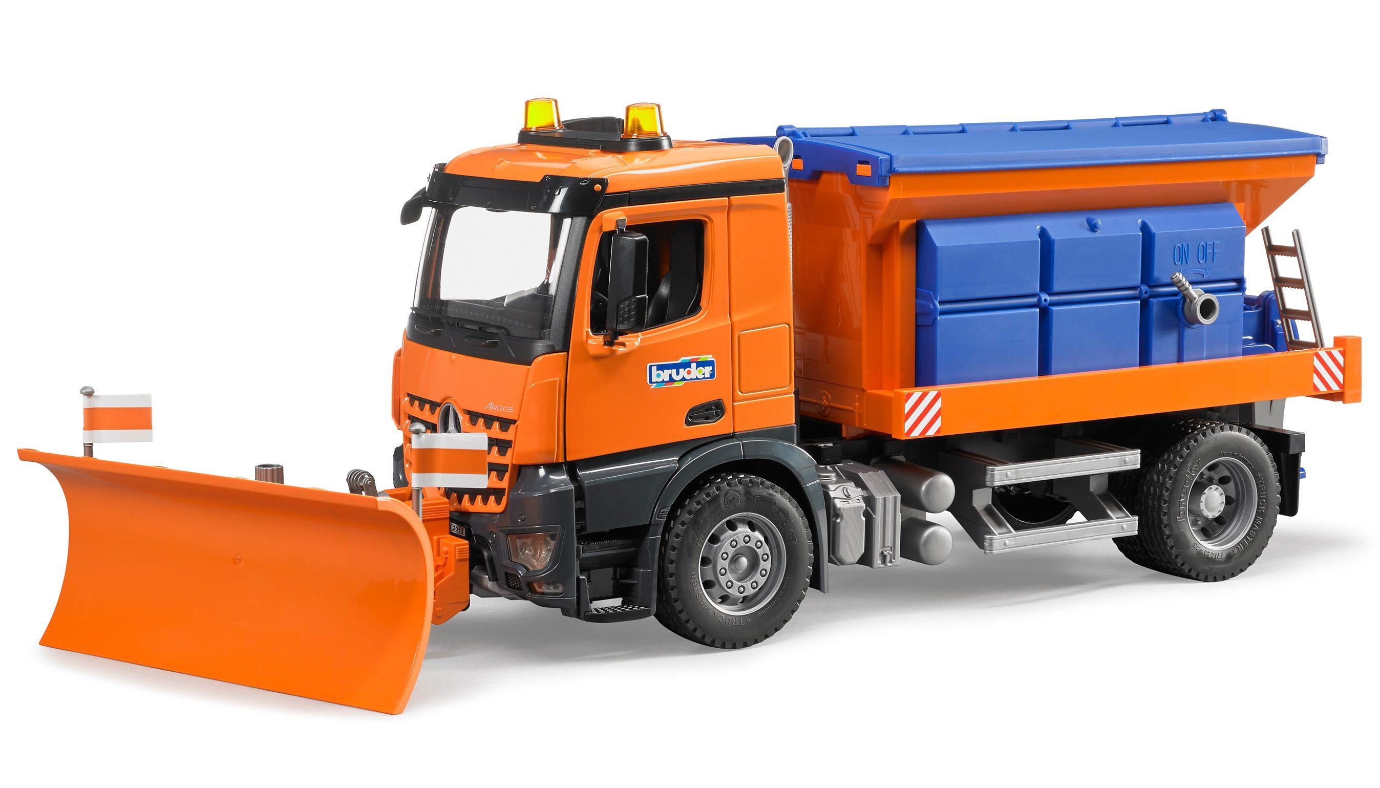 bruder® Räumfahrzeug, »MB Arocs Winterdienst mit Räumschild«