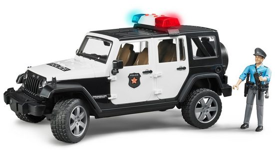 Bruder® Spielzeug-Polizei »Jeep Wrangler Polizeifahrzeug und Polizist«, (Set, 2-tlg), mit Sound, Made in Germany