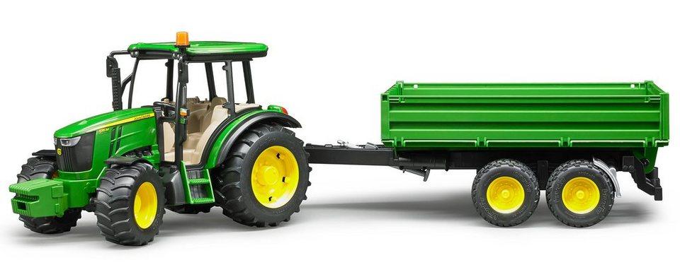 bruder traktor mit anh nger 02108 john deere 5115m mit. Black Bedroom Furniture Sets. Home Design Ideas