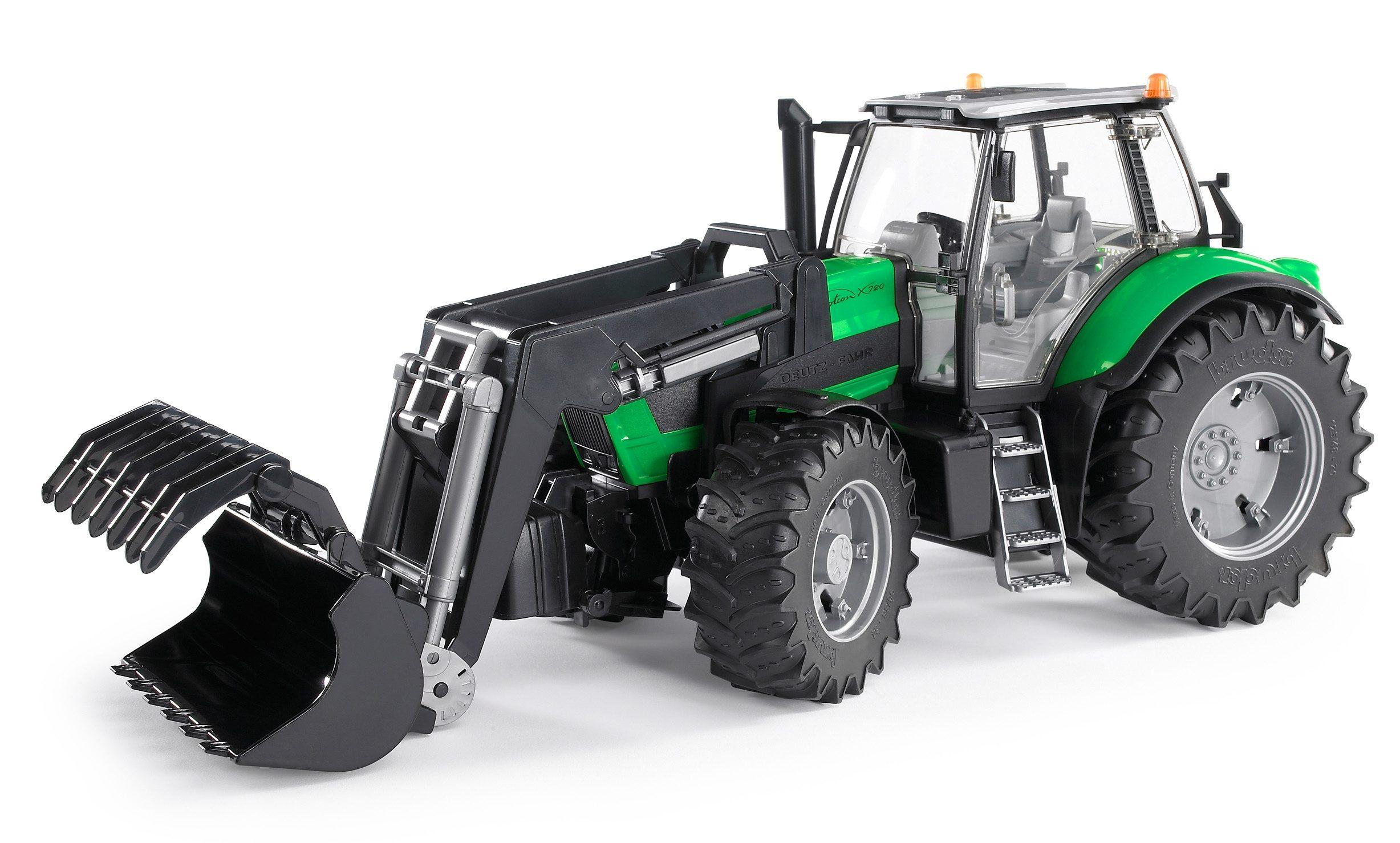 Bruder spielzeug traktor deutz agrotron mit
