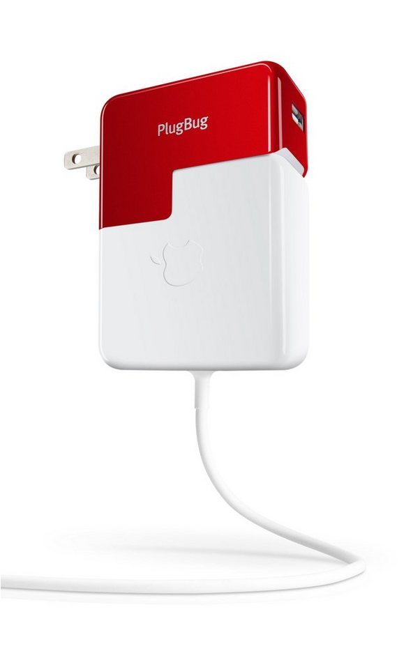 Twelve South USA-Netzteil »PlugBug Netzteil für MacBook Pro, USB-Ladegerät« in Weiss/Rot