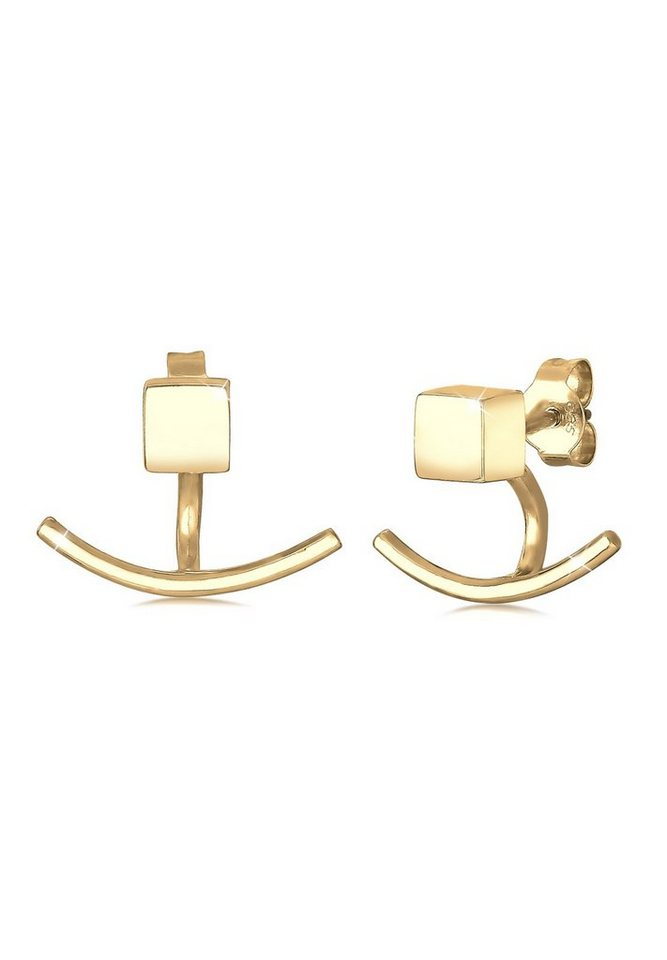 Elli Ohrringe »Front-Back Earjacket vergoldet« in Gold