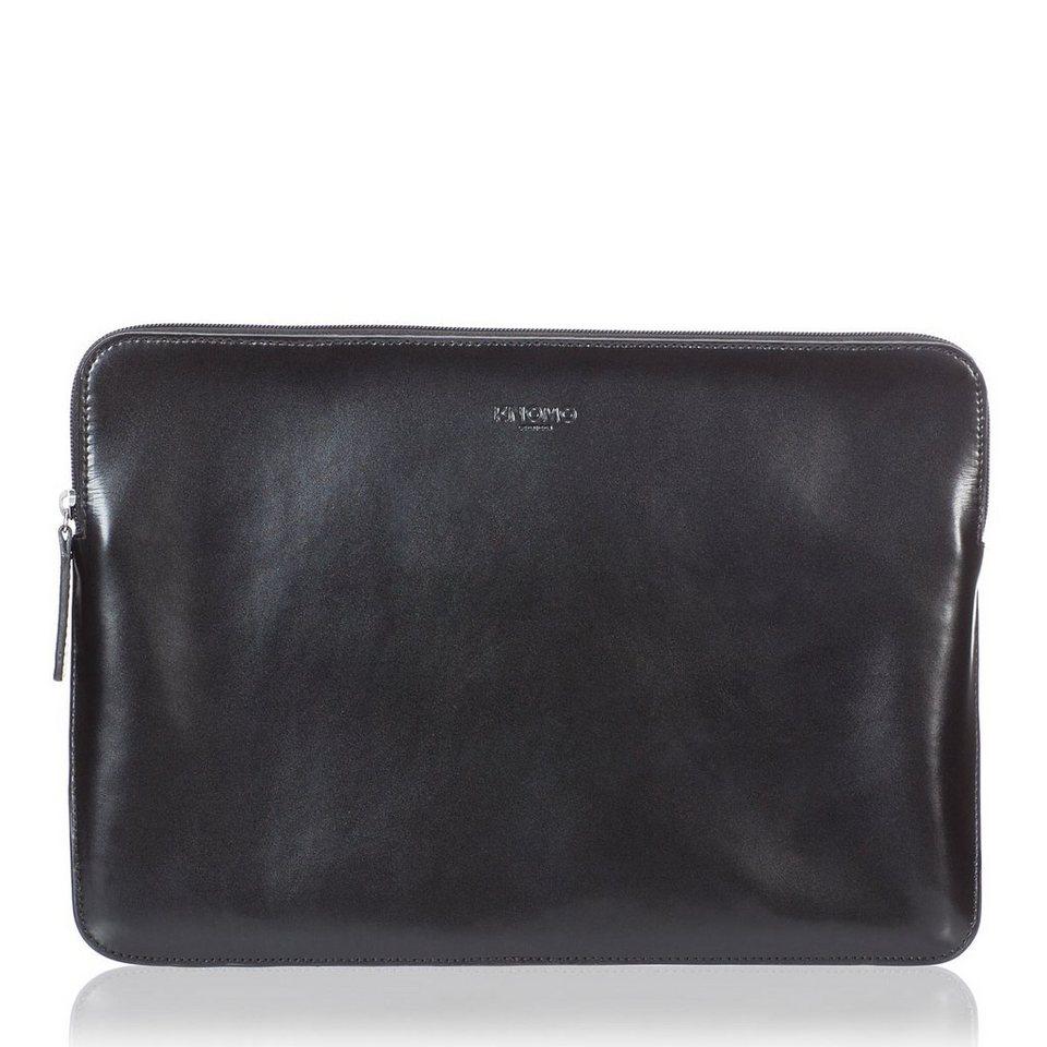 Knomo Notebook-Hülle aus Leder »Soho Zip Sleeve für MacBook Pro 15« in Schwarz