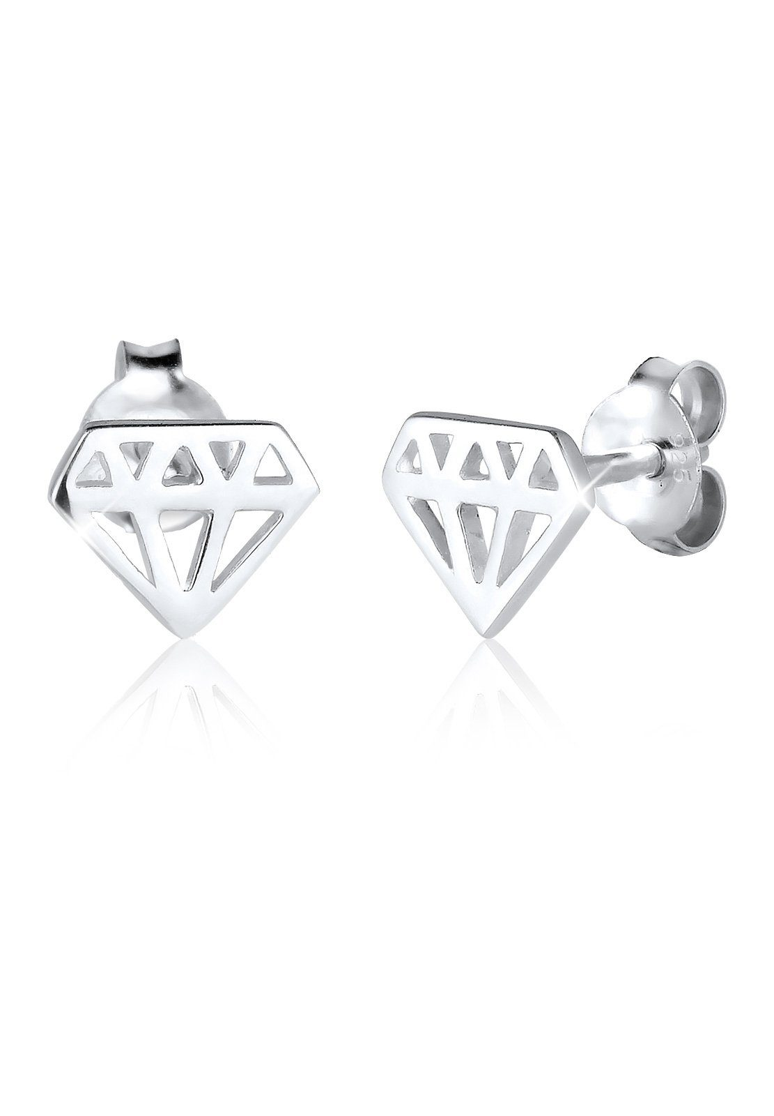 Elli Ohrringe »Diamant Form Cut-Out Trend Filigran 925 Silber«
