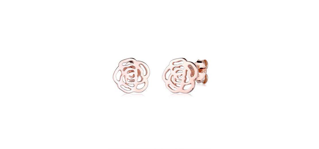 Elli Ohrringe »Ornament Rose rosé-vergoldet«
