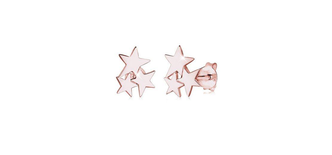 Elli Ohrringe »Sterne rosé-vergoldet«