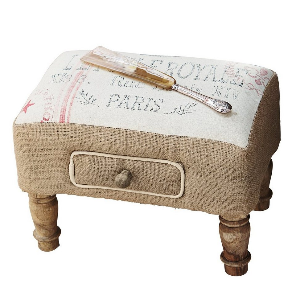 Loberon Hocker »Jean« in creme