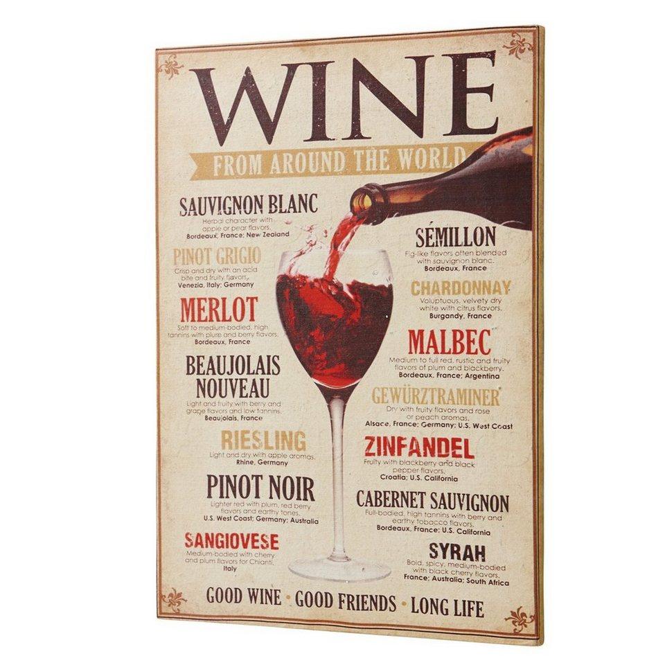 Loberon Dekoboard »Winecard« in creme