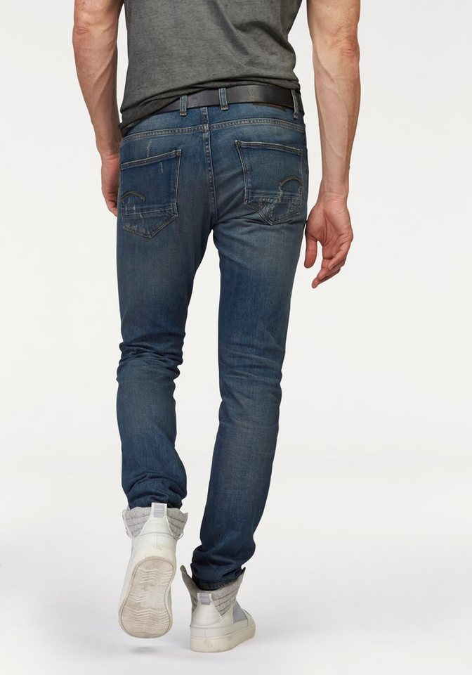 G-Star Slim-fit-Jeans »Revend Super Slim« in dark-aged