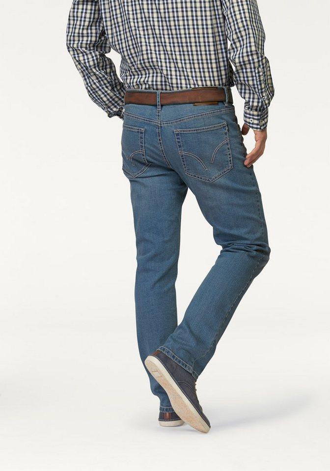 Arizona Stretch-Jeans »Tim« mit schmalerem Beinverlauf in bleached