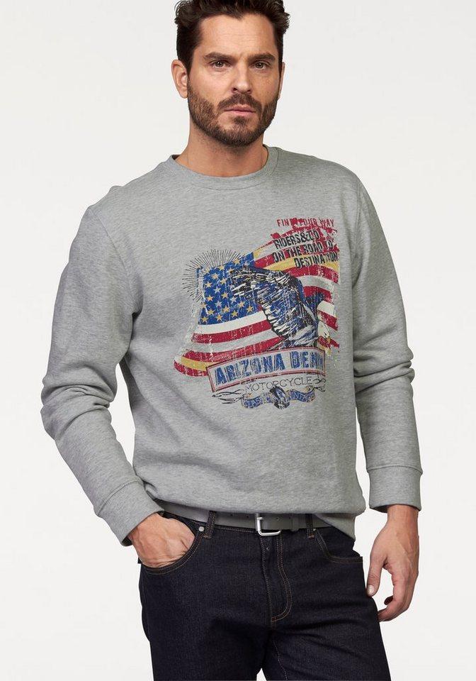 Arizona Sweatshirt in grau-meliert