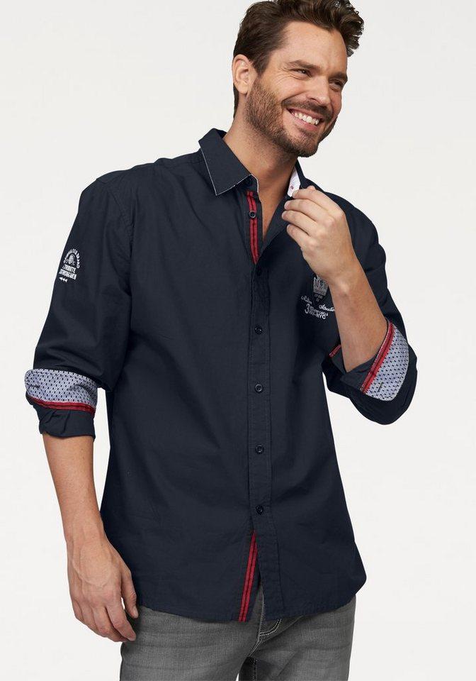 Man's World Hemd in dunkelblau