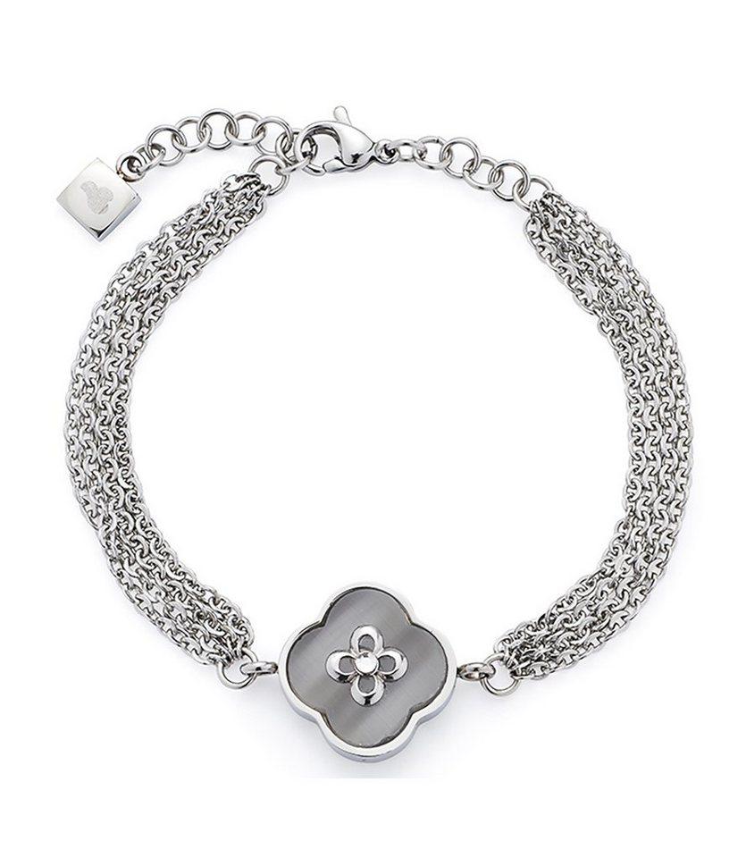 Jewels by Leonardo Armschmuck: Armband mit Glassteinen, »fortunato, 015717« in silberfarben/grau