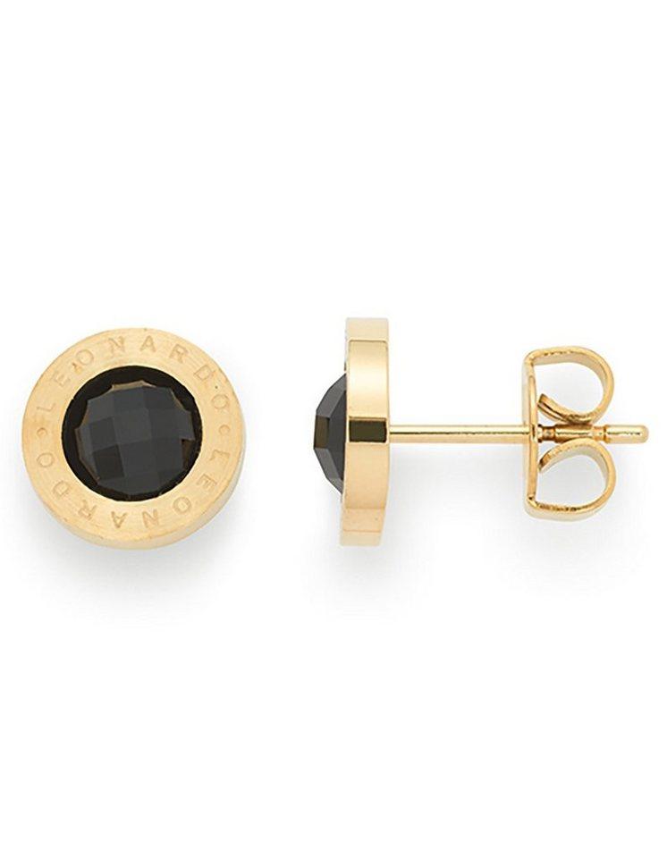 Jewels by Leonardo Ohrschmuck: Paar Ohrstecker mit Glassteinen, »matrix gold/schwarz, 015788« in goldfarben/schwarz