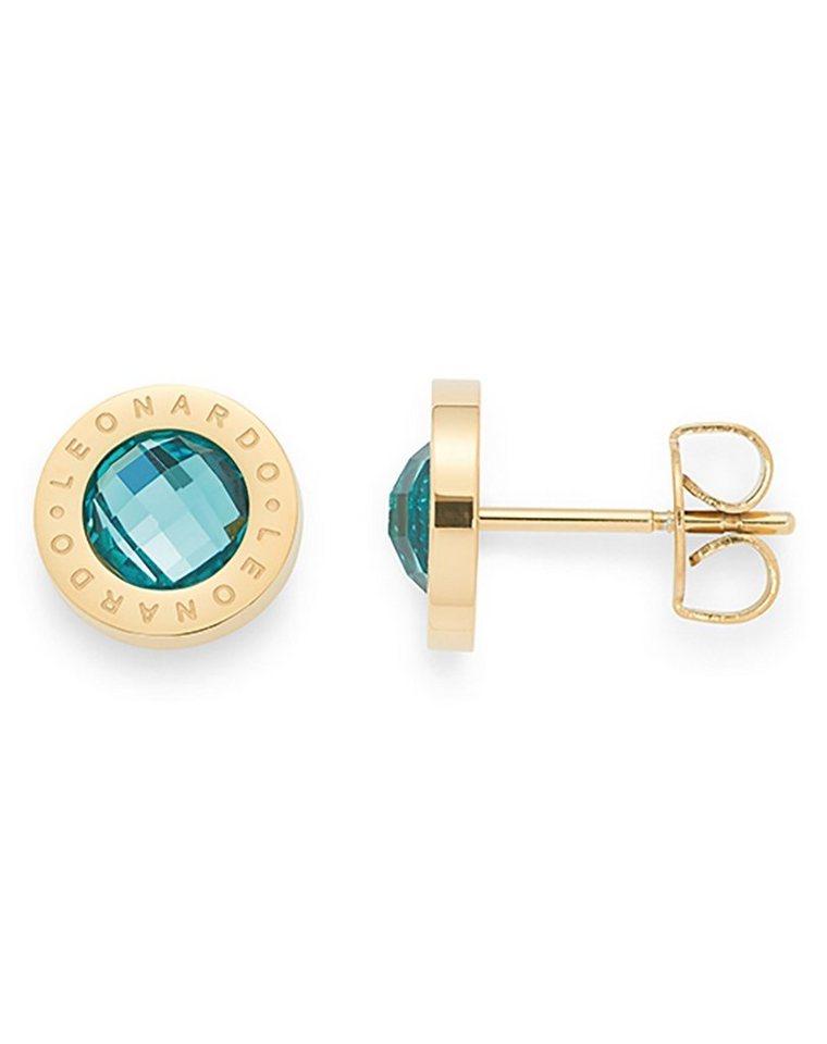Jewels by Leonardo Ohrschmuck: Paar Ohrstecker mit Glassteinen, »matrix gold/türkis, 015787« in goldfarben/türkis