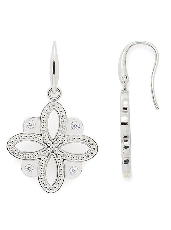 Jewels by Leonardo Ohrschmuck: Paar Ohrhaken mit Glassteinen, »infinito, 015684« in silberfarben